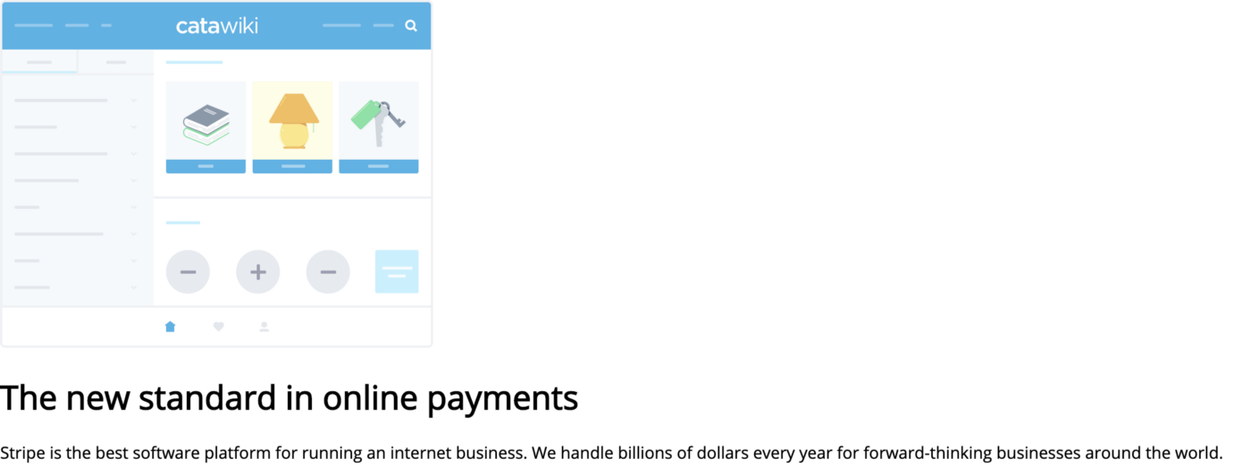 Stripe's homepage recreated, without styling