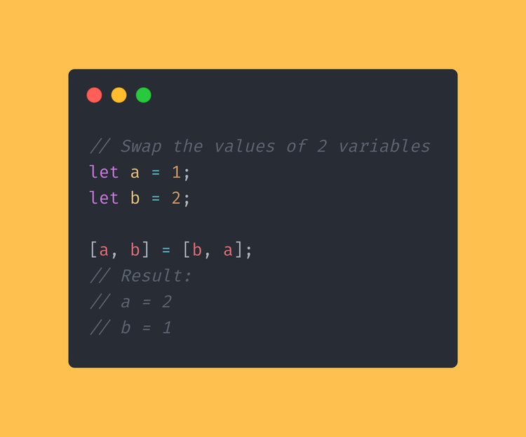 Using JavaScript, swap the values of 2 variables around